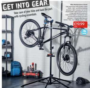 Bike Maintenance Stand - £19.99 @ Aldi from 9th online (+£3.95 delivery charge) / from 16th instore