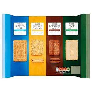 Tesco variety pack biscuits 700g - 55p @ Tesco (Broughton)