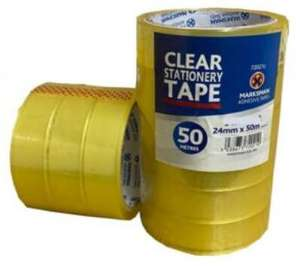 6 X Rolls Clear Sellotape 24mm X 50m £3.49 delivered @ fstrading777 / ebay