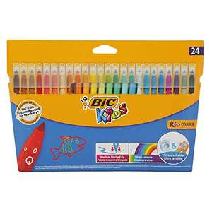 BIC Kids Kid Couleur Felt Tip Colouring Pens - Ultra Washable Assorted Colours, Pack of 24 £2.30 (+£4.49 NP) Delivered @ Amazon