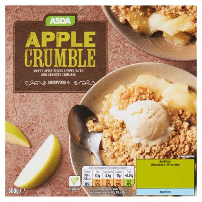 Asda Apple Crumble 500g, serves 5 - 15p in Asda Batley branch