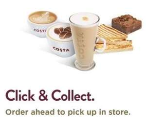 Buy a medium hot drink for price of small one on Costa app (account specific) - click & collect