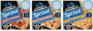 Chicago Town Tiger Crust Cheese Medley / Double Pepperoni / Cheesy Ham & Bacon £1.75 each (Clubcard price) @ Tesco