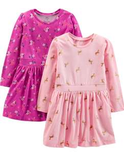 Carter's store brand Girl's 2 pack long sleeve dress set - age 2 now £8.08 at Prime / £12.57 Non Prime Amazon .