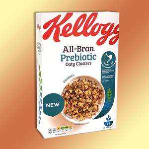 5 x Kellogg's All Bran Prebiotic Oaty Clusters 380g Boxes (Best Before Date 05/06/2021) for £6 delivered @ Yankeebundles