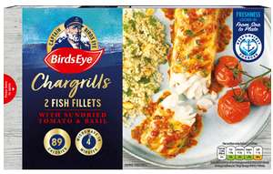 Bird's eye 2 fish chargrills tomato & basil 35p in store in Asda Cardiff Bay