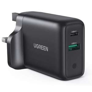 UGREEN USB C & A 36W Charger - 18W QC 3.0 PD Quick Charge - Prime Members £12.59 / Non Prime £17.08 Sold By Ugreen Group Limited UK / Amazon