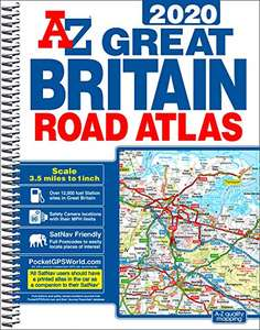 GB Road Atlas 2020 A4 SPIRAL Spiral-bound - £7.79 Delivered @ Amazon / Dispatched from and sold by psbooks_.
