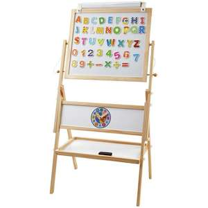 Chad Valley Double Sided Wooden Easel (Includes paper, eraser & 42 numbers & letters) now £16.50 (Click & Collect) @ Argos
