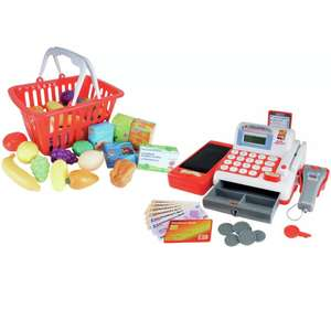 Chad Valley Cash Register with Basket & 18 Play Food Accessories now £13.33 click & collect at Argos