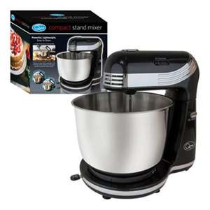 Quest 3L Stainless Steel & Black 6-speed Compact Stand Mixer for £34.39 delivered using code @ eBay / TJ Hughes Outlet