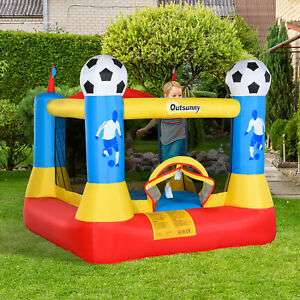 Outsunny Kids Football Bouncy Castle with net for £136.79 delivered @ eBay / Outsunny