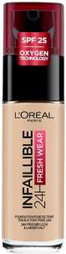 L'Oreal Paris Infallible 24hr Freshwear Liquid Foundation 130 Beige - £7.10 (+£4.49 Non Prime) @ Amazon