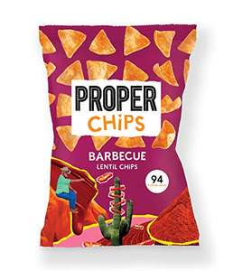 Proper Chips Barbecue Lentil Chips Box of 24 20g Bags - £4.39 (+£4.49 Non Prime) from Amazon