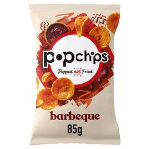 Popchips all flavours 85g bags £1 Clubcard Price @ Tesco