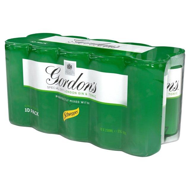 Gordon's Gin & Tonic 10x250ml - £4.80 instore Asda, Blyth