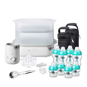 Tommee Tippee Anti-Colic Complete Feeding Set, Super-Steam Electric Steriliser, Baby Bottle and Food Warmer, Baby Bottles £61.99 @ Amazon