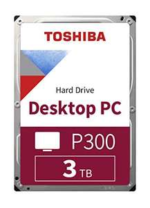 Toshiba P300 3TB 7200RPM 3.5 Inch SATA Hard Drive £54.85 (UK Mainland) sold by Amazon EU at Amazon