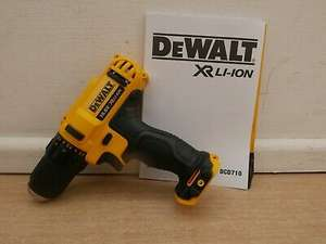 Brand New Dewalt XR DCD710 10.8V 12V 2 Speed Drill Driver Bare Unit - £38 with code @ eBay / AbbeyPower