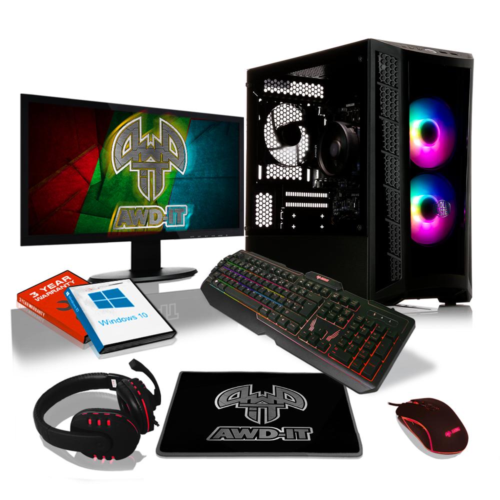 AWD-IT AMD Ryzen 5 3350G Quad Core MB320 RGB, GTX 1650 SUPER 4GB, PC Monitor Package For Gaming - £699.99 @ AWD-IT