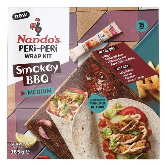 Nando's Smokey BBQ Peri-Peri Wrap Kit 261g - £2.50 @ Iceland