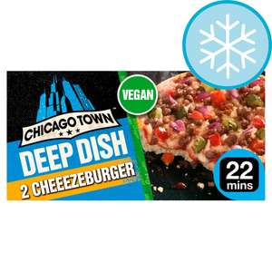 Chicago Town Deep Dish Cheezeburger Vegan Pizza 2X166g £1.50 with Clubcard @ Tesco