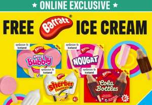 Free Barratt Ice Lollies with code (online exclusive / min basket applies) @ Iceland