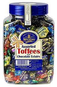 WALKERS NONSUCH Assorted Toffees and Chocolate Eclairs Jars 1.25 kg £9.49 - Dispatched from and sold by Monmore Confectionery.