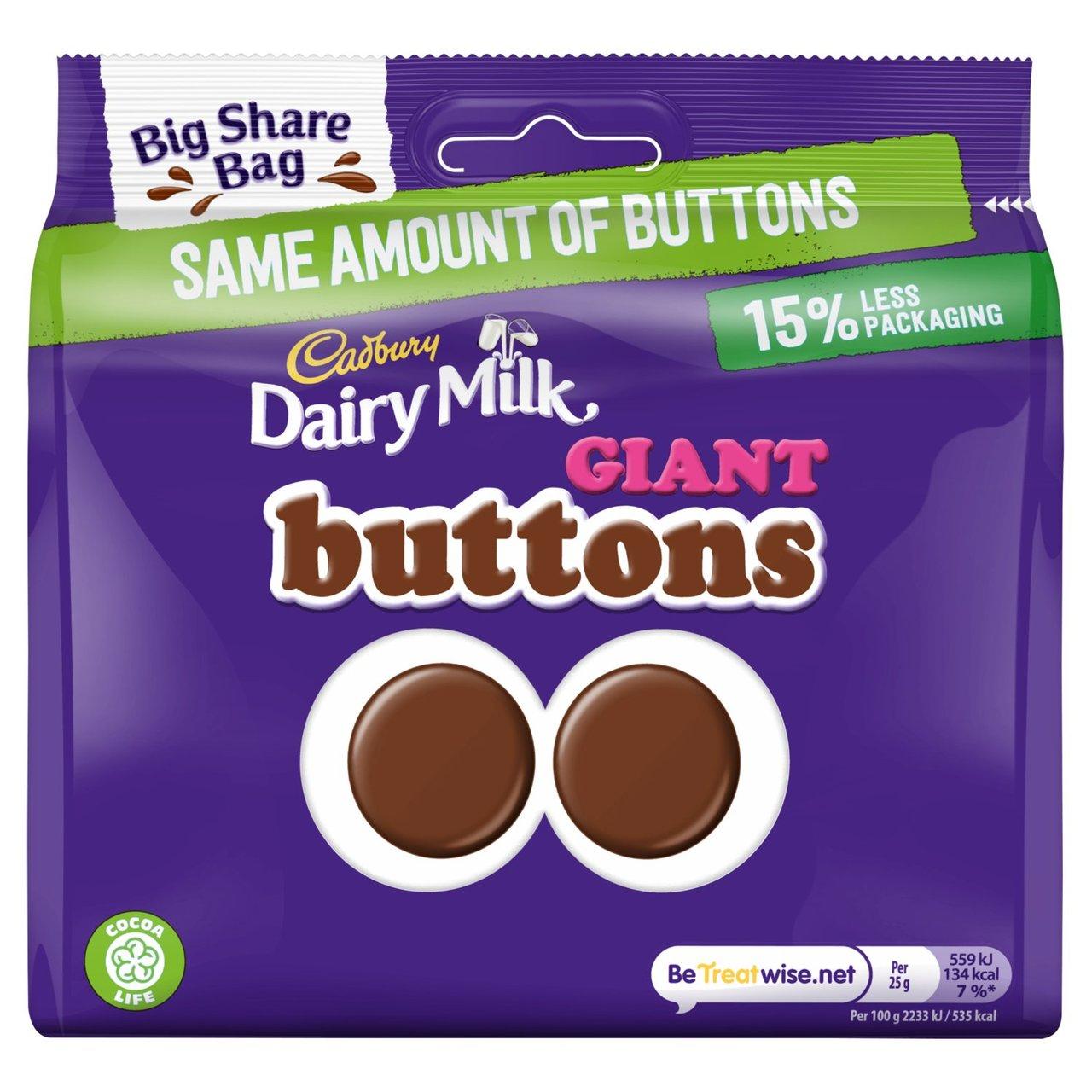 Cadbury Dairy Milk Giant Buttons 240g / Bitsa Wispa 222g / Caramel Nibbles 242g Share Bags - £1.25 @ Asda (Llanelli)