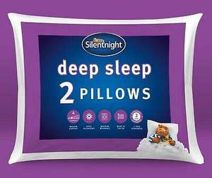 Silentnight Deep Sleep Pillows Two 2 Pack Soft Medium Bed Support Sleep Easy £12.99 @ branded_bedding / eBay