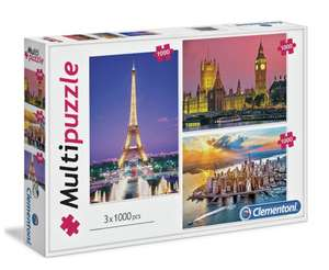 Clementoni 1000 Piece City Mega Jigsaw Puzzle - Set of 3 £6.66 (Free click &collect) @ Argos