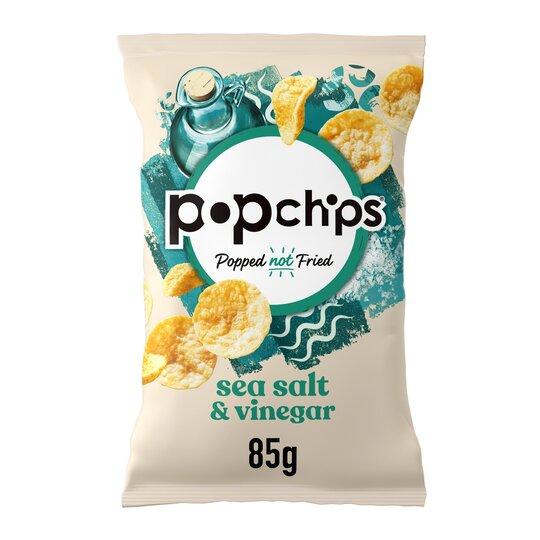 Popchips BBQ or Salt + Vin 85g 2 for £2 (£2 each) @ Coop Food