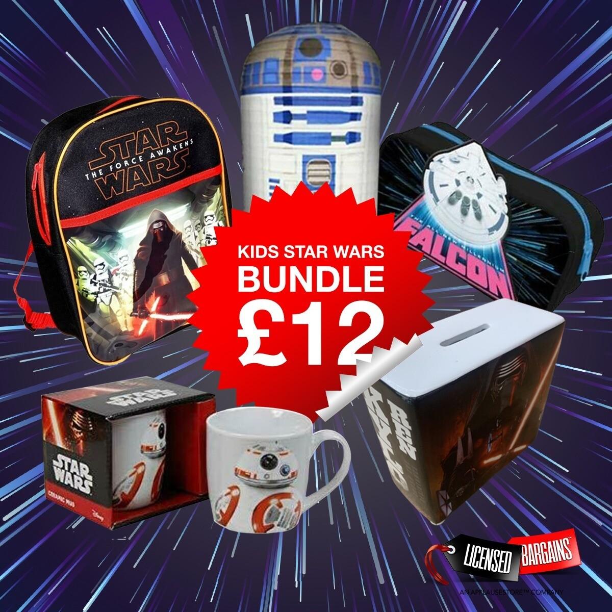 Kids' Star Wars Bundle £12 + £3.99 delivery at Licensed Bargains