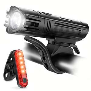 Ascher USB Rechargeable LED Bike Lights Set - Front Light Taillight Combinations £9.99 with voucher + £4.49 NP Sold by LangeeDirect FBA
