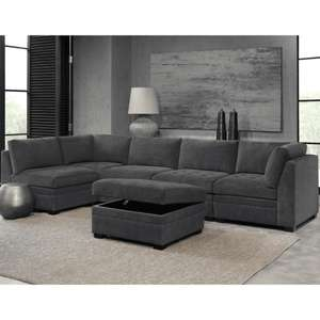 Thomasville Tisdale Dark Grey 6 Piece Modular Fabric Sofa £1499.89