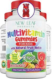 Vegan Multivitamin Gummies for kids £5.90 (+£4.49 non-prime) - Sold by New Leaf ™ and Fulfilled by Amazon