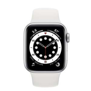 Refurbished Apple Watch Series 6 GPS, 40mm Silver Aluminium Case with White Sport Band 40mm - £319 @ Apple Store