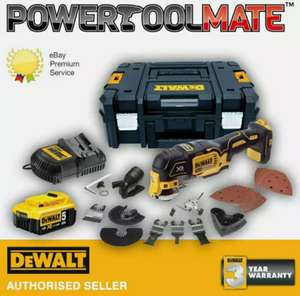 DeWalt DCS355P1 XR 18v Brushless Oscillating Multi Tool c/w 5Ah Battery & Accessories £201.39 - powertoolmate /eBay