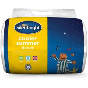 Silentnight Cooler Summer 4.5 Tog Duvet - Double or Single - £3 each or King £5 (Fee click & collect / £4.95 Delivery) @ Robert Dyas