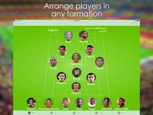 Lineup - Football Squad Temporarily Free at Apple App Store