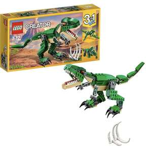 2 for £15 - LEGO Creator 31058 Mighty Dinosaurs Toy, 3 in 1 Model, Triceratops and Pterodactyl Dinosaur Figures @ Sainsbury's