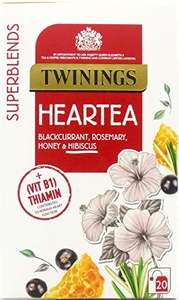 Twinings Superblends Heartea with Blackcurrant, Rosemary, Hibiscus & Honey, 80 Teags (Multipack of 4 x 20 Bags) £2.69 (+£4.49 NP) @ Amazon