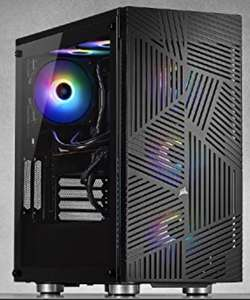 Corsair 275R Airflow Tempered Glass Mid-Tower ATX Gaming Case (Three 120 mm Cooling Fans Included, Removable Filters) - £67.99 @ Amazon