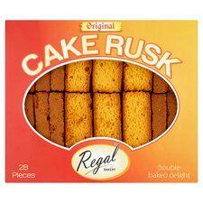 Regal Original Cake Rusks 28 Pieces - £2.60 Clubcard Price @ Tesco