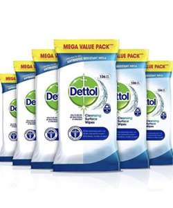 Dettol Wipes Antibacterial Bulk Surface Cleaning, Multipack of 6 x 126, Total 756 Wipes £16.99 (+£4.49 Non Prime) @ Amazon