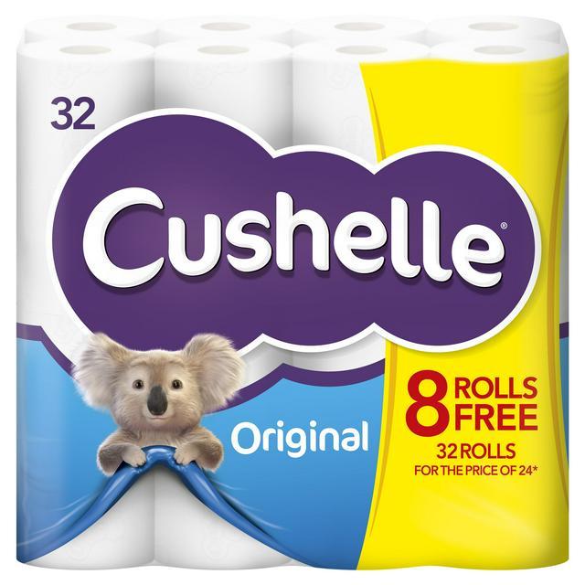 Cushelle White Toilet Tissue x32 Rolls 32 Toilet Rolls For The Price of 24 £11 @ Sainsbury's