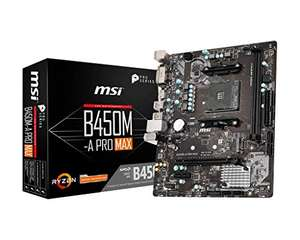MSI B450M-A PRO MAX Motherboard mATX, AM4, DDR4, LAN, USB 3.2 Gen1, M.2, DVI-D, HDMI Motherboard - £52.98 @ Amazon