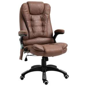 Vinsetto PU Leather Executive Reclining Office Chair 6 Heating Massage Points - £110.87 with code - Aosom App