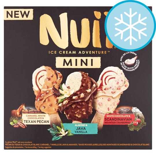 Nuii Minia/Ment Texan Java Scandinavian Ice Cream 6X55ml £2.50 clubcard price at Tesco