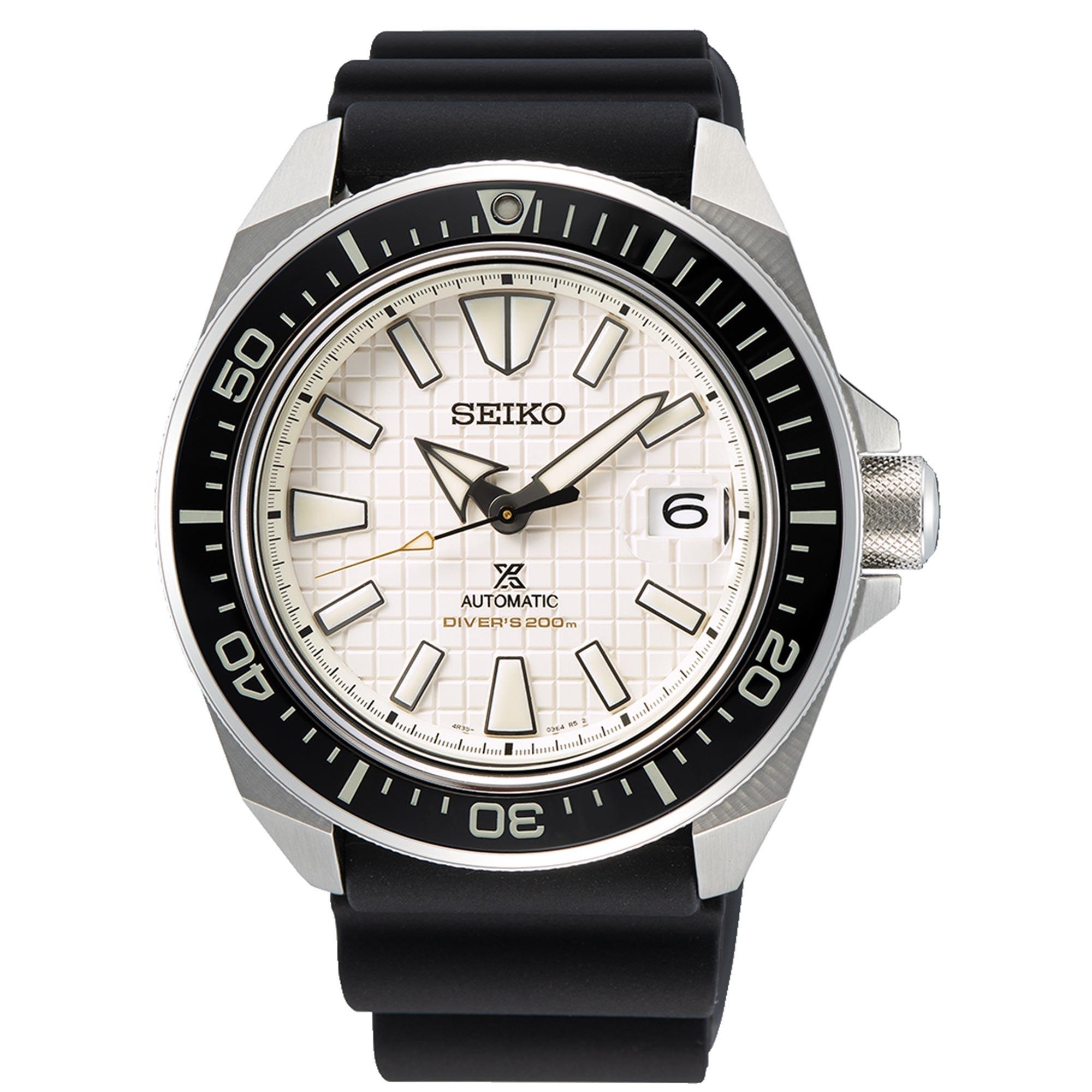 SEIKO PROSPEX KING SAMURAI Automatic White Dial Sapphire Ceramic Mens Watch SRPE37K1 £424 at WatchNation